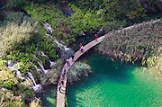 Plitvice National Park Boardwalk from above