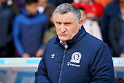 Blackburn Rovers Manager Tony Mowbray   before the EFL Sky Bet Championship match between Nottingham Forest and Blackburn Rovers at the City Ground, Nottingham, England on 13 April 2019.