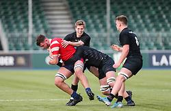 Charlie Rice of Bristol Bears U18 drives forward with the ball - Mandatory by-line: Arron Gent/JMP - 12/01/2020 - RUGBY - Allianz Park - London, England - Saracens U18 v Bristol Bears U18 - Premiership U18 Academy