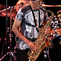 Charles Neville performs onstage during the Aaron Neville  U.S. Tour at The PlazaLive in Orlando, Florida on Wednesday, August 8, 2012. (AP Photo/Alex A. Menendez)