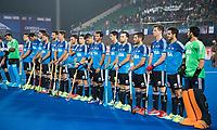 BHUBANESWAR -  Hockey World League finals ,  .Team Argentina.  Line up. Argentina v Spain . Team Argentina. COPYRIGHT KOEN SUYK