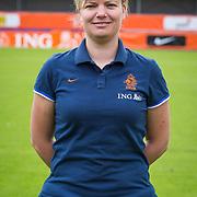NLD/Velsen/20130701 - Selectie Nederlands Dames voetbal Elftal, videoanalist Judith Bloem