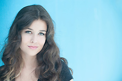 girl with beautiful green eyes and dark hair