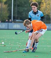 BLOEMENDAAL  - Wout Cox (Bldaal)  , competitiewedstrijd junioren  landelijk  Bloemendaal JA1-Nijmegen JA1 (2-2) . COPYRIGHT KOEN SUYK