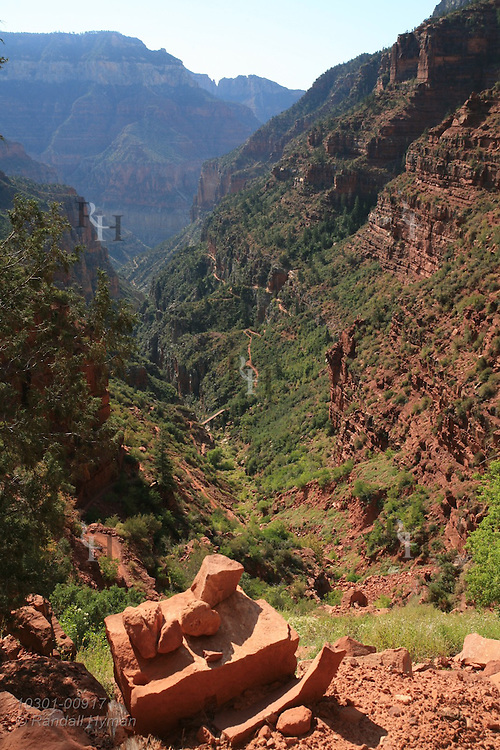 Views along North Kaibab trail from Coconino Overlook to Supai Tunnel; Grand Canyon National Park, Arizona.