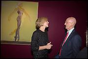 DARCEY BUSSELL; ALLEN JONES, Allen Jones private view. Royal Academy,  London. 11 November  2014.