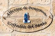 Auberge hostel for pilgrims in Santo Domingo de La Calzada on the Way of St James pilgrim route Camino de Santiago in Castilla y Leon, Spain