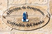 Auberge hostel for pilgrims in Santo Domingo de La Calzada on the Way of St James pilgrim route Camino de Santiago in Castilla y Leon, Spain