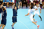 DESCRIZIONE : France Handball Jeux Olympiques Londres <br /> GIOCATORE : Karabatic Nikola FRA Portela Pablo ARG<br /> SQUADRA : France Homme<br /> EVENTO : FRANCE Handball Jeux Olympiques<br /> GARA : FRANCE ARGENTINE<br /> DATA : 31 07 2012<br /> CATEGORIA : handball Jeux Olympiques<br /> SPORT : HANDBALL<br /> AUTORE : JF Molliere <br /> Galleria : France JEUX OLYMPIQUES 2012 Action<br /> Fotonotizia : France Handball Homme Jeux Olympiques Londres premier tour <br /> Predefinita :