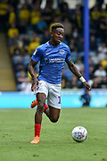 Portsmouth Midfielder, Jamal Lowe (10) runs at goal to score and make it 4-1 during the EFL Sky Bet League 1 match between Portsmouth and Oxford United at Fratton Park, Portsmouth, England on 18 August 2018.