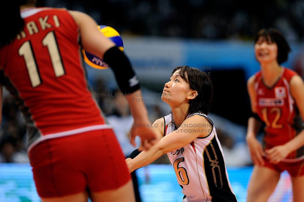 23-08-2009 VOLLEYBAL: WGP FINALS JAPAN - BRAZILIE: TOKYO <br /> Brazilie wint met 3-1 van Japan en zijn de winnaar van de Grand Prix 2009 / Yuko SANO<br /> ©2009-WWW.FOTOHOOGENDOORN.NL