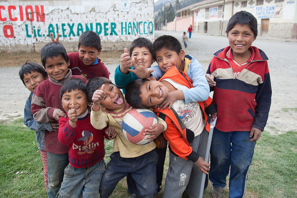 Kids in the village of Sunchubamba, a Quechua speaking native community in Southeastern Peru that is running a reforestation plot in the Andes near Cusco and the Interoceanic Highway.