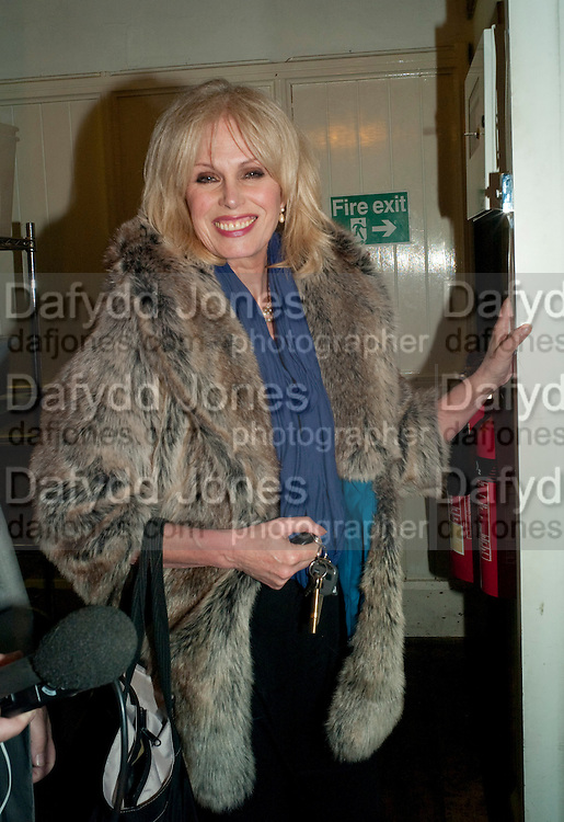 JOANNA LUMLEY, Gala performance of  RUBY WAX- LOSING IT  in aid of  Comic Relief. Menier Theatre. London. 23 February 2011. -DO NOT ARCHIVE-© Copyright Photograph by Dafydd Jones. 248 Clapham Rd. London SW9 0PZ. Tel 0207 820 0771. www.dafjones.com.