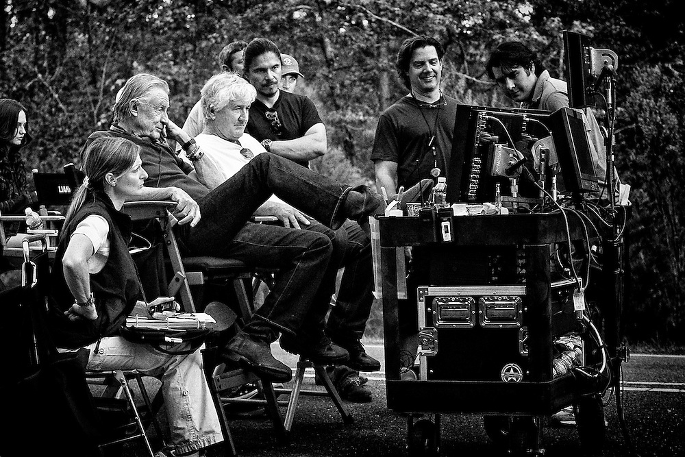 Director Joel Schumacher with Director of Photography Andrzej Bartkowiak on the set of the feature film 'Trespass' in Shreveport, LA. USA.