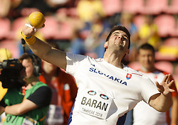 July 10, 2018 - Tampere, Suomi Finland - 180710 Friidrott, Junior-VM, Dag 1: Adrian Baran SVK  competes in Shot Put during the IAAF World U20 Championships day 1 at the Ratina stadion 10. July 2018 in Tampere, Finland. (Newspix24/Kalle Parkkinen) (Credit Image: © Kalle Parkkinen/Bildbyran via ZUMA Press)