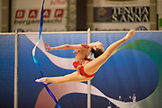 Sabina Ashirbayeva from Flaminio team during the Italian Rhythmic Gymnastics Championship in Padova, 25 November 2017.