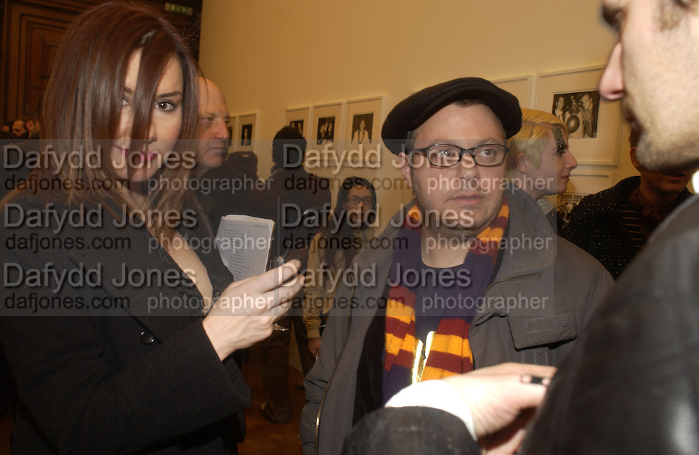 Deniz Seti and Haluk Akakce. Warhol's World. Photography and Television. Hauser and Wirth. Piccadilly, London. 26  January 2006.  ONE TIME USE ONLY - DO NOT ARCHIVE  © Copyright Photograph by Dafydd Jones 66 Stockwell Park Rd. London SW9 0DA Tel 020 7733 0108 www.dafjones.com