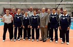 08-08-2014 NED: FIVB Grand Prix Nederland - Puerto Rico, Doetinchem<br /> Officials FIVB, line judges and referees