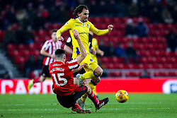 Edward Upson of Bristol Rovers is tackled by Jack Baldwin of Sunderland - Mandatory by-line: Robbie Stephenson/JMP - 15/12/2018 - FOOTBALL - Stadium of Light - Sunderland, England - Sunderland v Bristol Rovers - Sky Bet League One