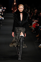 Annely Bouma (DNA) walks the runway wearing Altuzarra Fall 2015 during Mercedes-Benz Fashion Week in New York on February 14, 2015