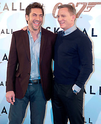 (LtoR) Actors Javier Bardem and Daniel Graig during the 007 Skyfall film photocall, Villa Magna Hotel. Madrid. Spain, October 28, 2012. Photo by Eduardo Dieguez / DyD Fotografos / i-Images...SPAIN OUT