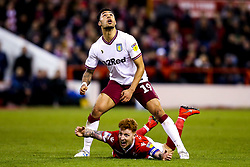 Andre Green of Aston Villa fouls Jack Colback of Nottingham Forest - Mandatory by-line: Robbie Stephenson/JMP - 13/03/2019 - FOOTBALL - The City Ground - Nottingham, England - Nottingham Forest v Aston Villa - Sky Bet Championship