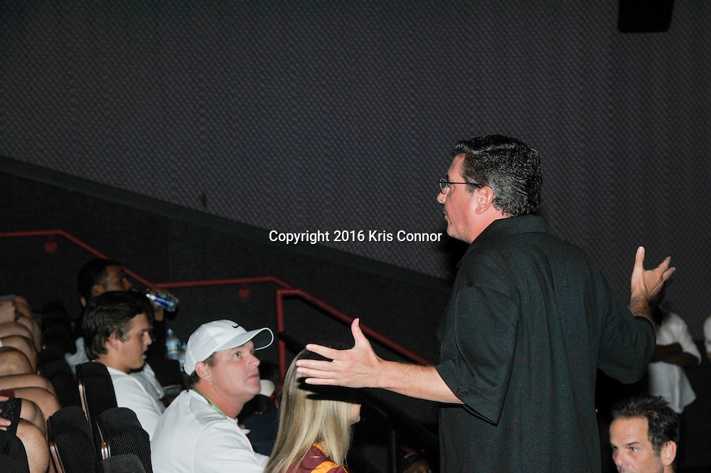 RICHMOND, VA - AUG 13: Redskins Owner Dan Snyder attends a special screening for the Washington Redskins football team of Lions gate Entertainment's new movie Deepwater Horizon at Bow Tie Cinema on August 13, 2016 in Richmond, Va. (Photo by Kris Connor for Lions Gate Entertainment)