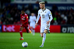 Sam Surridge of Swansea City makes a break  - Mandatory by-line: Ryan Hiscott/JMP - 29/11/2019 - FOOTBALL - Liberty Stadium - Swansea, England - Swansea City v Fulham - Sky Bet Championship