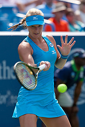 August 19, 2018 - Cincinnati, OH, USA - Western and Southern Open Tennis, Cincinnati, OH - August 19, 2018 - Kiki Bertens in action against Simona Halep  in the finals of the Western and Southern Tennis tournament held in Cincinnati. Bertens won 2-6 7-6 6-2. - Photo by Wally Nell/ZUMA Press (Credit Image: © Wally Nell via ZUMA Wire)