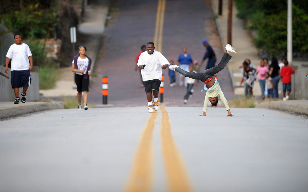 Kids from the Daniel's Hill Community Center go across the D Street Bridge connecting Rivermont Ave to Cabell Street.  The kids would often do on the closed bridge during their weekly walks.