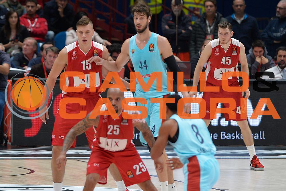 Tarczewski Kaleb<br /> Olimpia Milano - FC Barcellona<br /> EuroLeague 2017-2018<br /> Milano 26/10/2017<br /> Foto di Ivan Mancini /Ciamillo-Castoria