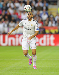Real Madrid's Karim Benzema - Photo mandatory by-line: Joe Meredith/JMP - Mobile: 07966 386802 12/08/2014 - SPORT - FOOTBALL - Cardiff - Cardiff City Stadium - Real Madrid v Sevilla - UEFA Super Cup