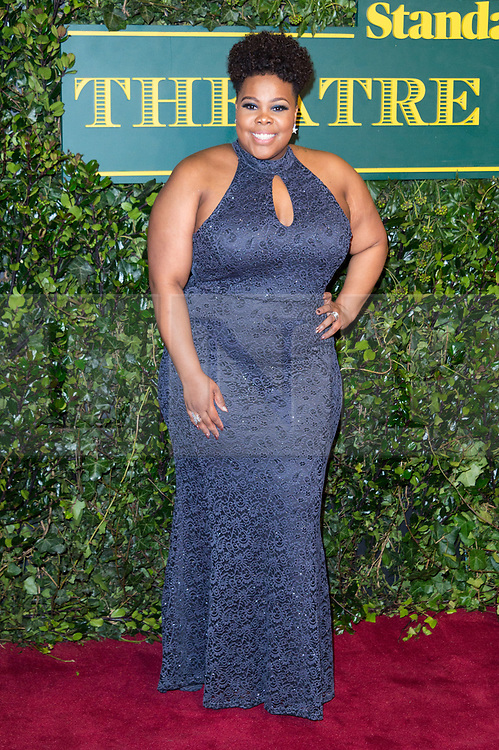 © Licensed to London News Pictures. 03/12/2017. London, UK. AMBER RILEY attends the London Evening Standard Theatre Awards 2017 held at the Theatre Royal, Dury Lane. Photo credit: Ray Tang/LNP