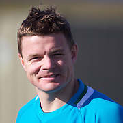 Brian O'Driscoll training with the Irish team at The Queenstown Events Centre in preparation for the IRB Rugby World Cup. Queenstown, New Zealand, 7th September 2011. Photo Tim Clayton....