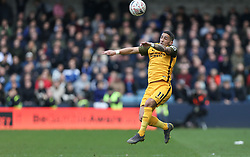 Anthony Knockaert of Brighton and Hove Albion goes up to head the ball - Mandatory by-line: Arron Gent/JMP - 17/03/2019 - FOOTBALL - The Den - London, England - Millwall v Brighton and Hove Albion - Emirates FA Cup Quarter Final