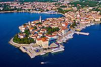 Croatie, Istrie, côte Adriatique, le village de Porec // Croatia, Adriatic coast, Istria, village of Porec