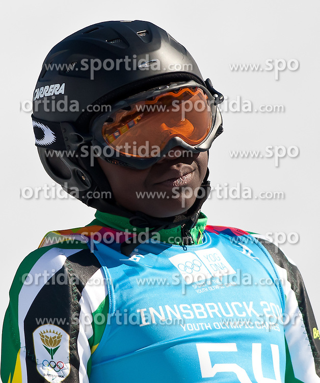 """14.01.2012, Patscherkofel, Innsbruck, AUT, Olympische Jugend Winterspiele, Ski Alpin, Super G, Herren, im Bild Sive Speelman (RSA) // Sive Speelman (RSA) during the Mens Super G of the Winter Youth Olympic Games at the """"Patscherkofel"""", Innsbruck, Austria on 2012/01/14, EXPA Pictures © 2012, PhotoCredit: EXPA/ Juergen Feichter"""