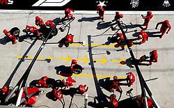 April 15, 2018 - Shanghai, China - Shanghai: Motorsports: Formula 1 2018 Heineken Chinese Grand Prix.Chinese Formula One Grand Prix Shanghai Circuit in Shanghai, China.  Team is getting ready for pitstop , #5 Sebastian Vettel (GER, Scuderia Ferrari) (Credit Image: © Hoch Zwei via ZUMA Wire)