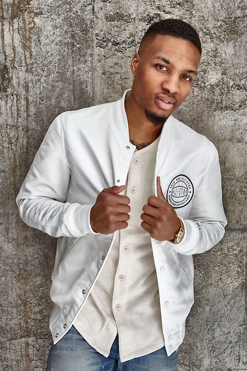 Sports Advertising portrait of Damion Lillard with the Portland Trail Blazers by Michel Leroy PHOTOGRAPHER