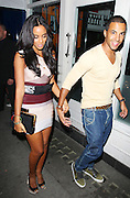 30.JULY.2011. LONDON<br /> <br /> JLS SINGER MARVIN HUMES AND GIRLFRIEND ROCHELLE WISEMAN, SINGER FROM THE SATURDAYS, AT THE COLLECTION NIGHTCLUB IN LONDON. JLS WENT ON TO THE ALTO NIGHTCLUB LATER TO CELBRATE THIER UK NO.1 CHART POSITION.<br /> <br /> BYLINE: EDBIMAGEARCHIVE.COM<br /> <br /> *THIS IMAGE IS STRICTLY FOR UK NEWSPAPERS AND MAGAZINES ONLY*<br /> *FOR WORLD WIDE SALES AND WEB USE PLEASE CONTACT EDBIMAGEARCHIVE - 0208 954 5968*
