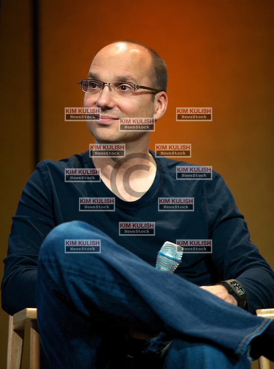 Andy Rubin, senior vice president of mobile at Google Inc., attends a press conference at the Google I/O  developer's conference in San Francisco, California.