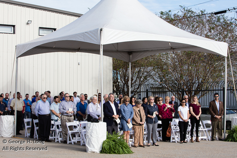 Flag dedication ceremony at Frischhertz Electric Co., Inc. on November 2, 2016