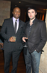 Left to right, actor NICK BAILEY and footballer MATT BRADY at a party hosted by Daniella Helayel of fashion label ISSA held at Taman Gang, 141 Park Lane, London on 15th February 2006.<br /><br />NON EXCLUSIVE - WORLD RIGHTS