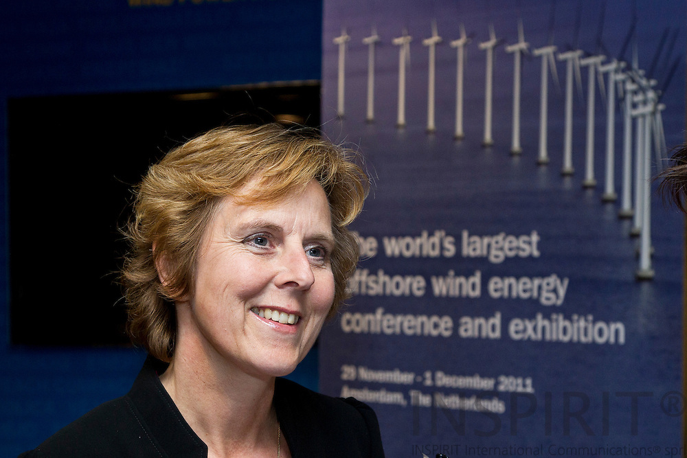 Connie Hedegaard, European Commissioner for Climate Action at the EWEA Debate meeting on Achieving 30% lower emissions in the EU: the role of wind energy & other renewables at the EWEA office in Brussels 8 November 2011. Photo: Erik Luntang/INSPIRIT
