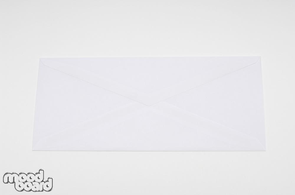 White envelope on white background