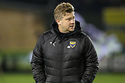 Oxford United manager Karl Robinson during the The FA Cup 1st round replay match between Forest Green Rovers and Oxford United at the New Lawn, Forest Green, United Kingdom on 20 November 2018.