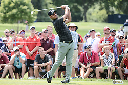 August 10, 2018 - Town And Country, Missouri, U.S - SHUBHANKAR SHARMA from India tees off from the third hole during round two of the 100th PGA Championship on Friday, August 10, 2018, held at Bellerive Country Club in Town and Country, MO (Photo credit Richard Ulreich / ZUMA Press) (Credit Image: © Richard Ulreich via ZUMA Wire)