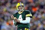 (2005)-Green Bay's Brett Favre after throwing an incomplete pass to Tony Fisher in the 4th quarter. .The Green Bay Packers hosted the Chicago Bears at Lambeau Field Sunday December, 25, 2005. Steve Apps-state Journal.