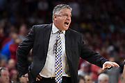 FAYETTEVILLE, AR - FEBRUARY 27:  Head Coach Bruce Pearl of the Auburn Tigers directs his team during a game against the Arkansas Razorbacks at Bud Walton Arena on February 27, 2018 in Fayetteville, Arkansas.  (Photo by Wesley Hitt/Getty Images) *** Local Caption *** Bruce Pearl