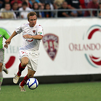 Orlando City Lions Forward Jamie Watson (77)during a United Soccer League Pro soccer match between Puerto Rico United and the Orlando City Lions at the Florida Citrus Bowl on April 22, 2011 in Orlando, Florida.  (AP Photo/Alex Menendez)